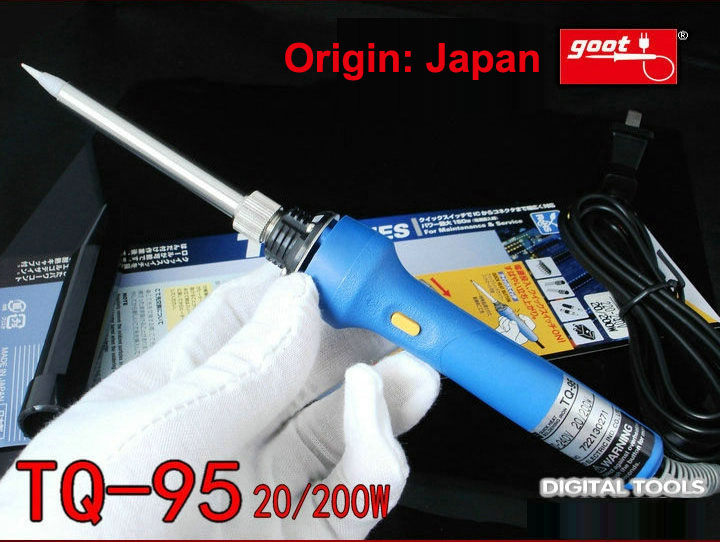 Japan GOOT Repair Tools TQ-95 Fast Thermal Electric Soldering Iron Input 220~240V Power Adjustable 20/200W Internal Heat Type japan goot repair tools ks 30r rapid thermal durable electric soldering iron input 220v power 30w