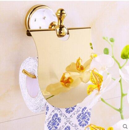 Oro de la alta calidad sostenedor de papel higiénico con el diamante ... b80e307411a0