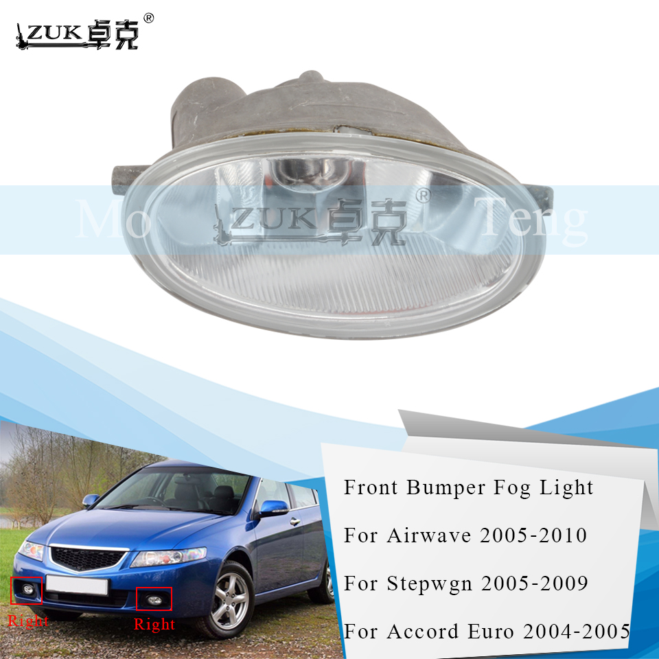 ZUK Front Bumper Fog Light Fog Lamp For HONDA Stepwgn 2005-2009 For ACCORD Euro CL7 CL8 CL9 2004-2005 Airwave Partner 2005-2010
