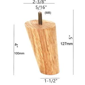 Image 4 - 10 سنتيمتر ارتفاع الخشب اللون المطاط أثاث خشبي الساقين M8 موضوع استبدال لمجلس الوزراء كرسي الأريكة الجدول السرير قدم حزمة من 4