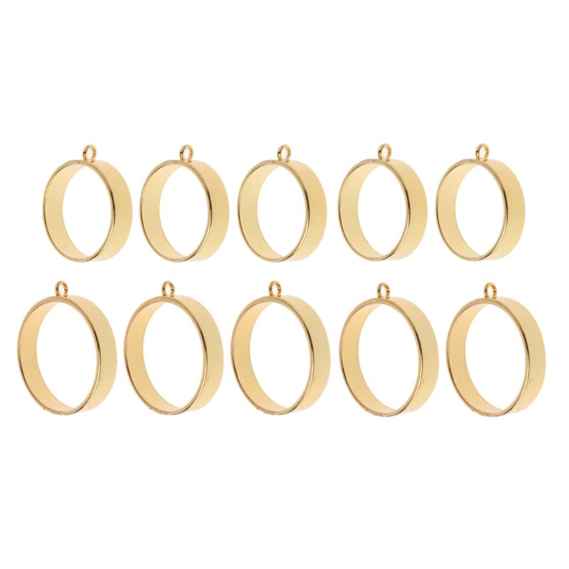 5Pcs Jewelry Metal Frame Round Framework Open Back Bezels Pendant Blanks for Resin Jewelry Making DIY Jewelry Supplies