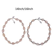 Summer Handmade Rope Wax Cord Shell Choker Necklace Women Hawaii Beach Jewelry
