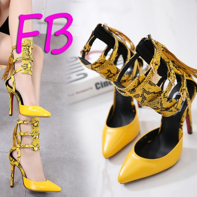 d95997c27 Tamanho grande 41 Serpentina Apontou Muito Bem Com sapatos de sola Vermelha  das Mulheres sapatos de
