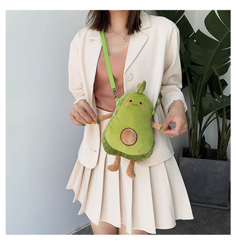 kawaii cute plush backpack metoo doll soft cartoon animal stuffed toy for girl kid children school shoulder bag for kindergarten Hot Kawaii Avocado Plush Toy Cartoon Avocado Stuffed Multifunctional shoulder bag cute  Lucky Doll Baby Kids Toy Children Gift