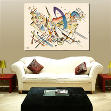 Wassily Kandinsky Paintings For Living Room Wall Paintings On Canvas Oil Painting Wall Pictures No Frame focal on wall frame iw 1003 rough