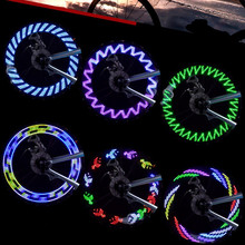 7 Pcs LED Motorcycle Cycling Bike Bicycle Tire Wheel Waterproof Valve Flashing Spoke Light Flash 8 Colors New Arrive