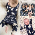 Infant Baby Girl Boy Moose Romper Cute Cartoon Jumpsuit Christmas Pajamas Outfits Clothes