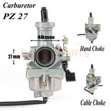 цена на Motorcycle PZ27 27mm Carburetor Carb motorcycle pump accelerator Carburettor For CG CB 125 150 175 200cc 4 storke engine