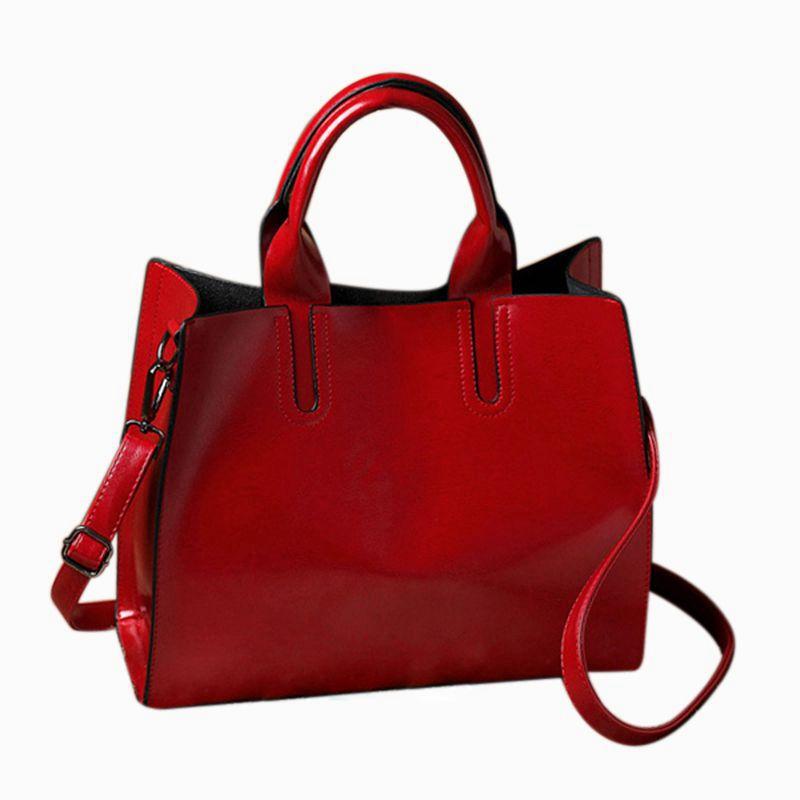 New Handbag, Ladies Handbags, Girls Satchel, Elegant Top-Handle Bag, Vintage Shoulder Bag with Shoulder Strap(red)