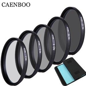 Image 2 - Caenboo 49 ملليمتر عدسة nd تصفية nd2 4 8 عدسة حامي محايد الكثافة 52 ملليمتر nd16 nd32 عدسة مرشح حقيبة لكانون نيكون كاميرا dsrl