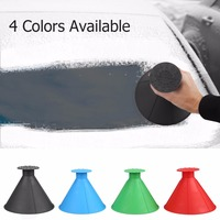 auto-car-magic-window-windshield-car-ice-scraper-shaped-funnel-snow-remover-deicer-cone-deicing-tool-scraping-one-round-drop
