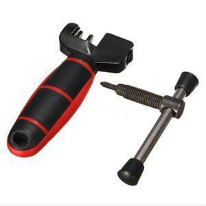 1pcs Mini Bicycle Bike Cycling Steel Cut Chain Splitter Cutter Breaker Repair Tool Two Tone Grip For Comfortable Handling stainless steel bicycle chain breaker repair tool red black