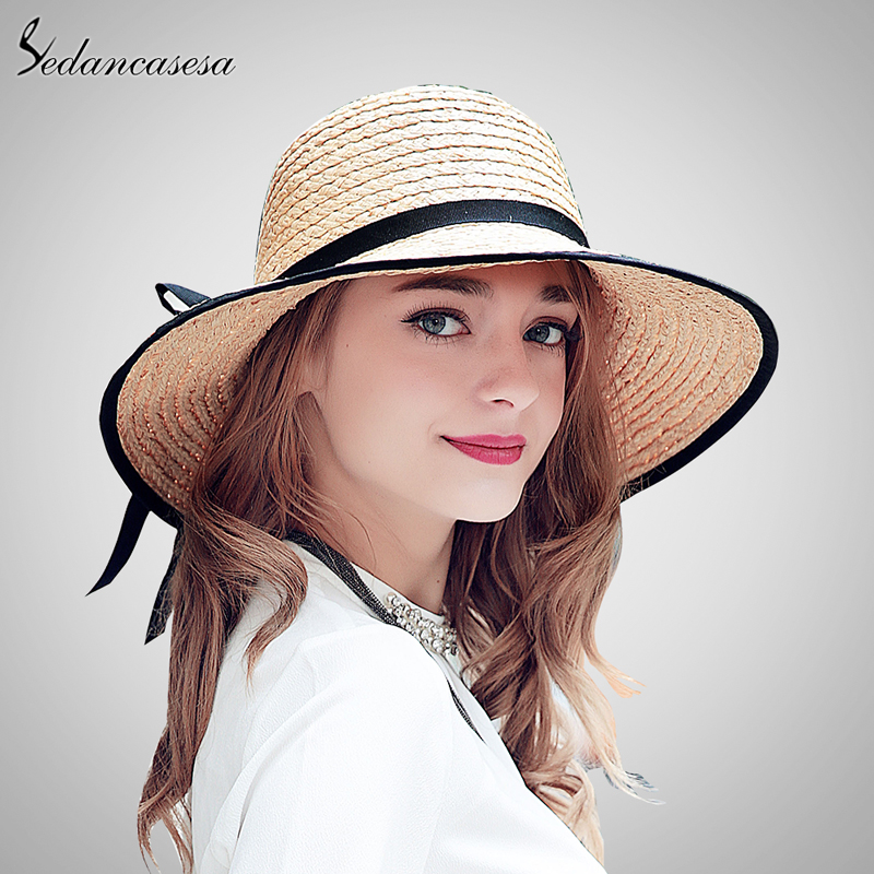 Brand 2016 Female Summer Hat For Women Imported Love Rafia Wide Brim Straw  Hats Wholesale Retail SW222003 de06d43106a