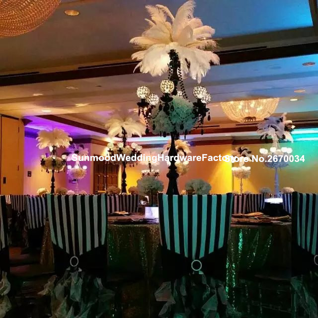 Large And Tall Table Centerpieces With Crystals Wedding Black Candelabra  Centerpieces Weddings Decoration Part 68