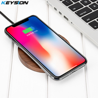 KEYSION 10 8W Qi Fast Wireless Charger For Xiaomi MIX 2S Quick Charging Pad For IPhone