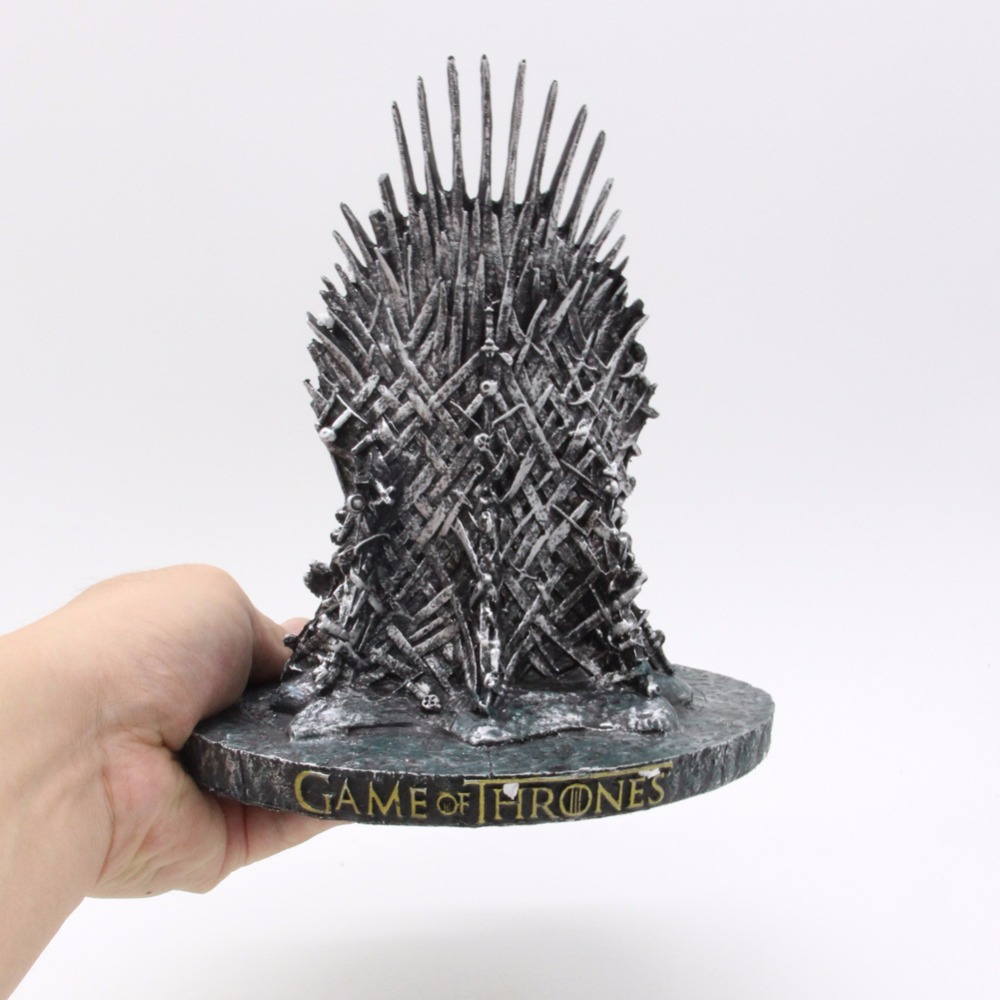the Iron Throne Model in GAME OF THRONES Figure Collective Toys 17cm game of thrones action figure toys sword chair model toy song of ice and fire the iron throne desk christmas gift