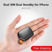 Adaptador Dual Sim dual Standby iKOS K1S Sem Jailbreak iOS 12 Chamar Funções de Texto Para iPhone5 X/i Pod Touch 6th/i Pad|dual sim standby adapter|dual standby sim adapter|dual sim standby -