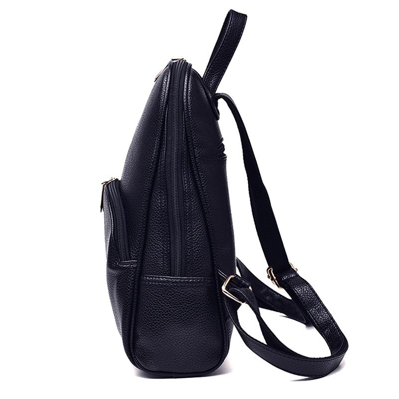 Nevenka Leather Backpack Women Solid Backpacks Light Weight Bag Cute Top Handle Backpacks for Girls Mini Nevenka Leather Backpack Women Solid Backpacks Light Weight Bag Cute Top Handle Backpacks for Girls Mini Backpack Female Bagpack