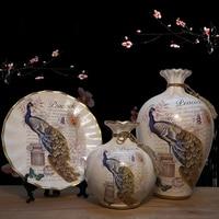 3pc/Set Europe Ceramic Vase curio shelves Nordic decoration home flower vase centerpieces for weddings traditional Vases