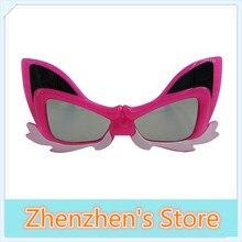 (3 pieces/lot) Colorful Fox Kid Child Lens Passive Polarized 3D Glasses for 3D RealD Cinema and Passive 3D TVs