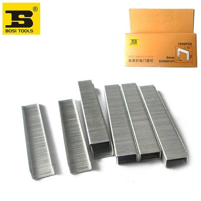 Spedizione Gratuita BOSI 1000 pz/pacco Standard Scalpello Point Graffette 6/25 inch/6mm gamba lunga