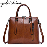 2019 New Women Handbag Vintage Leather Luxury Handbags Women Bags Designer Ladies Shoulder Messenger Bags Casual Female Big Tote