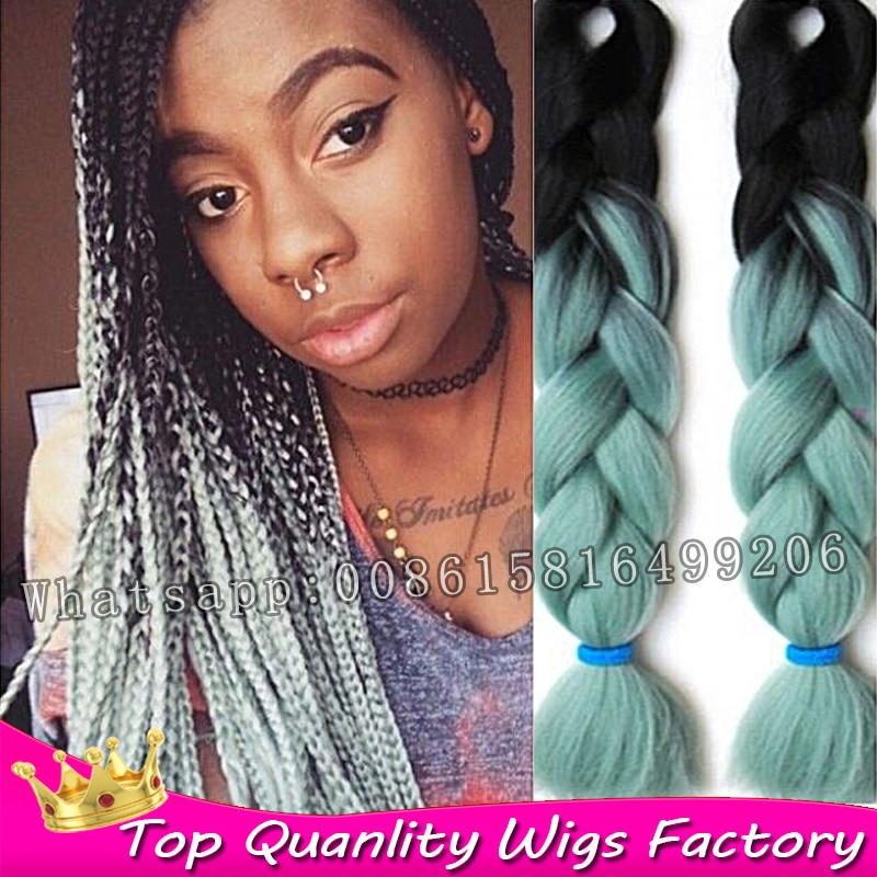 43 Colors 5 pack crochet Jumbo Box braids hair Two Three