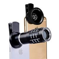 HD 12X Zoom Optical Telephoto Telescope Lens 0 45X Wide Angle With 15X Super Macro Mobile