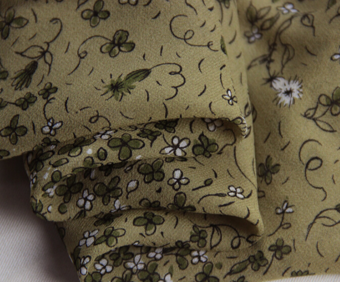 100% pure mulberry soft satin Brown Flower Silk georgette fabrics Silk scarf dressmaking Scarves Skirt materials 5 yards I271 gold jade objects and silk fabrics 50g