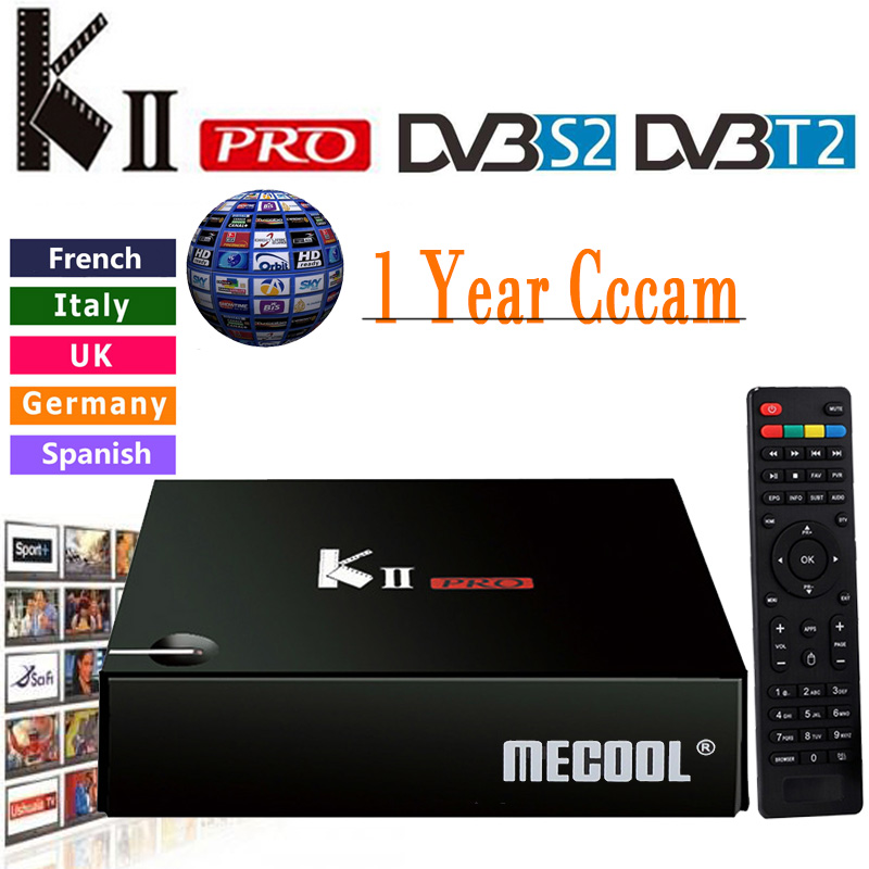 Cccam Cline For 1 Year KII Pro Android Tv Box DVB T2 DVB S2 Amlogic S905