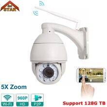 Stardot Wireless IP Camera HD 960P 4inch 5X Zoom IR Onvif IP Cameras PTZ Outdoor 128G SD Card Waterproof Speed Dome Camera