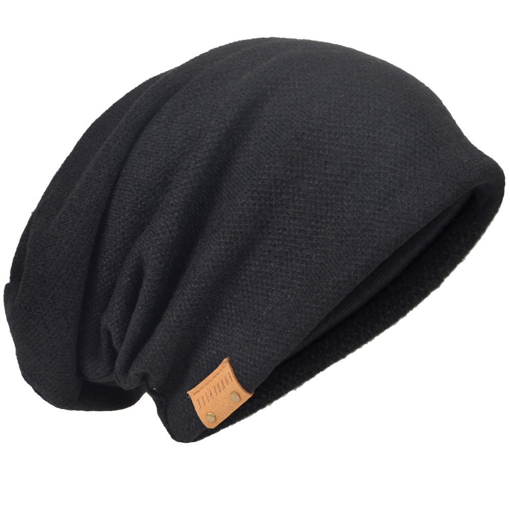 Men 2017 New Arrival Slouch Knit Beanie Cap Casual Skullcap Large Summer Hat HISSHE mens summer cap thin beanie cool skullcap hip hop casual hat forbusite