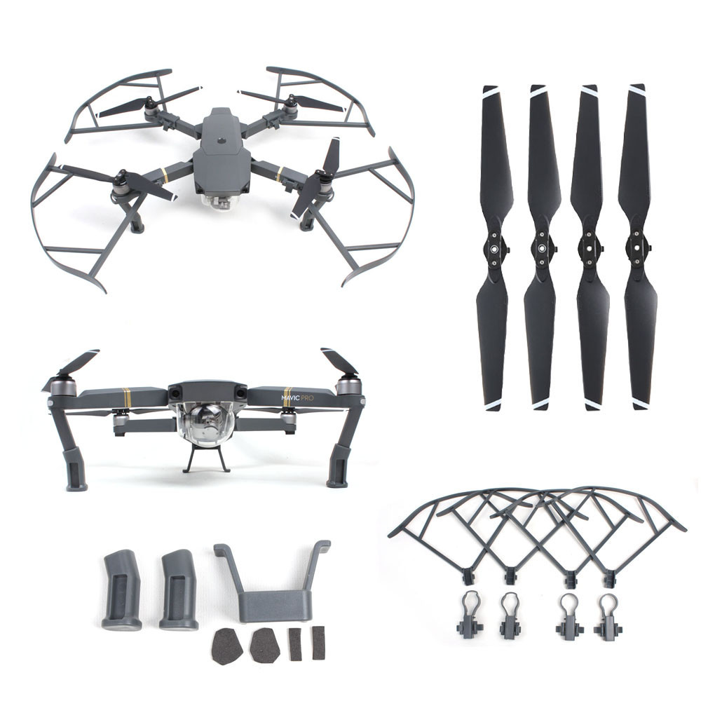 2017 Heightened Landing Gear+Protector Guard+Props Propellers Blade For DJI Mavic Pro M23