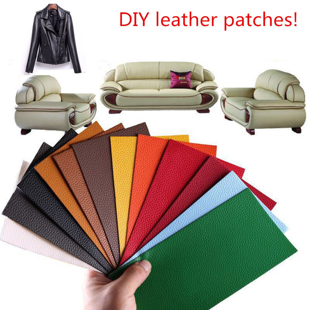 Leather Sofa Patches Leather Jacker Sticker Pu Patch Embroidered For Sewing  On Clothes DIY Bag Appliqued