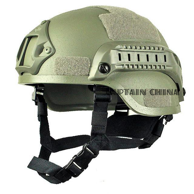 ФОТО Airsoft Tactical Hunting MICH 2000 Combat Helmet with Side Rail & NVG Mount FG Outdoor Tactical Helmet