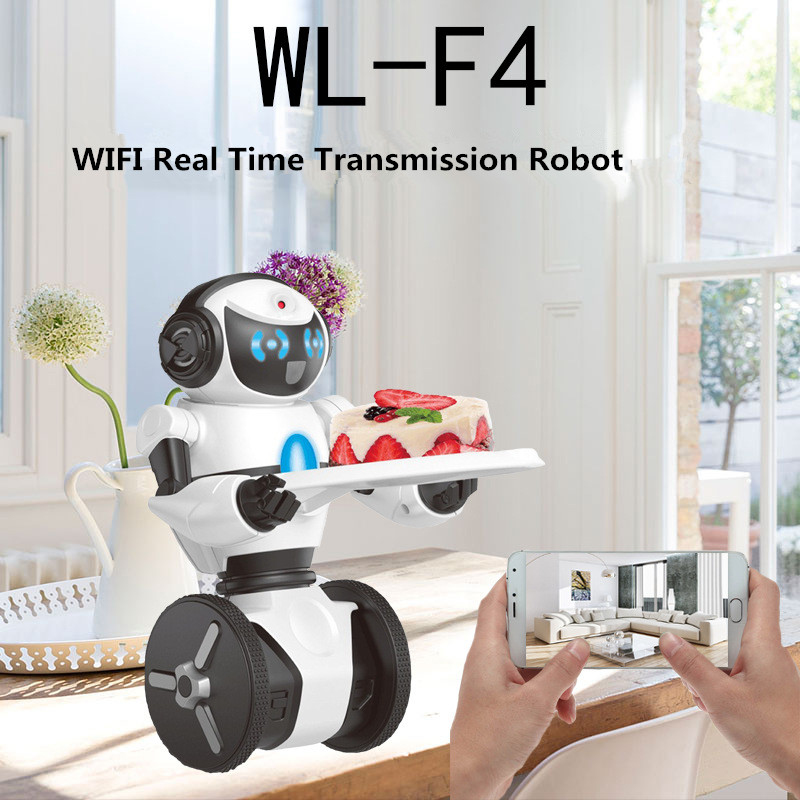 US $48 45 5% OFF|2018 new WIFI APP control F4 Intelligent Humanoid Robot  Wifi Control RC Robot with Dance/music/wifi/wifi camera RC Toy Model-in