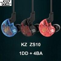KZ ZS10 In Ear Earphones DD 4BA Hybrid Drivers Audiophile HiFi In Ear Monitor IEMs Sports