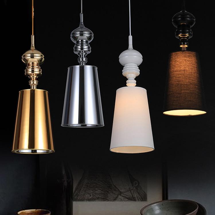 Modern Brief Pendant Lamps Dining Room E27 Pendant Lights White /Black /Golden /Silver Spain Design Hanging Light Fixture WPL111