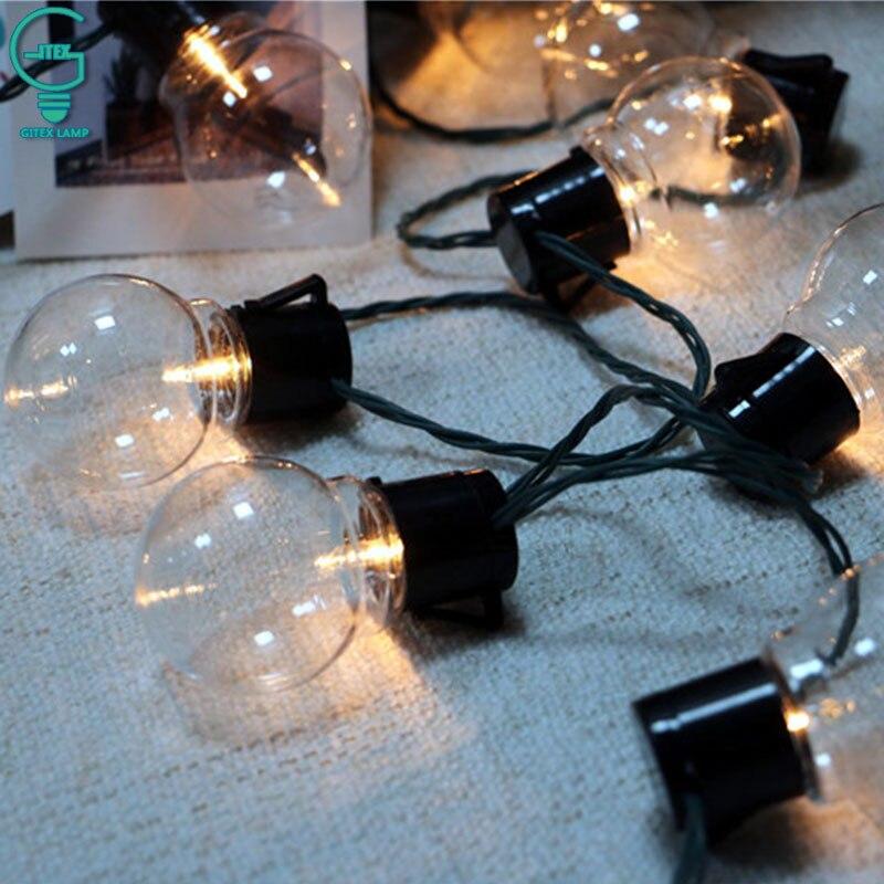20 LED Globe Festoon Party Ball String Light Connectable Christmas Fairy Lights for Garden Pendant Garland String Fairy Light цена