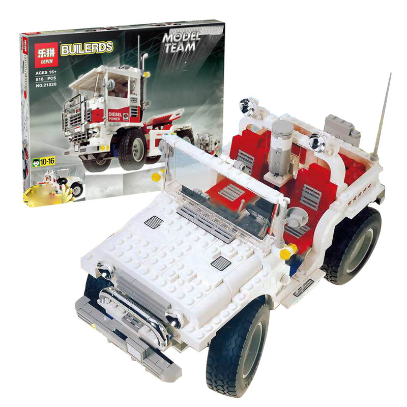 Lepin 21020 818Pcs Movie Series The Big Foot Car Set Children Educational Building Blocks Bricks Boy Toys Model for Gifts 5561 ynynoo lepin 02043 stucke city series airport terminal modell bausteine set ziegel spielzeug fur kinder geschenk junge spielzeug