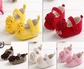 Envío gratis 2015 Nuevo Festival de la flor 0-1 años recién nacido niñas bebés primeros caminante bebe sapato mary jane zapatos Caliente