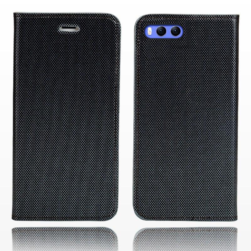 LANGSIDI marque téléphone cas en cuir double lignes de flip couverture de téléphone pour Xiaomi Mi 6 main-fait handphone cas