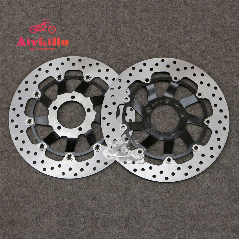 Floating Front Brake Disc Rotor For Ducati 989 Desmosedici RR 2007-2008 Streetfighter 1100 S 2009 Motorcycle keoghs real adelin 260mm floating brake disc high quality for yamaha scooter cygnus modify