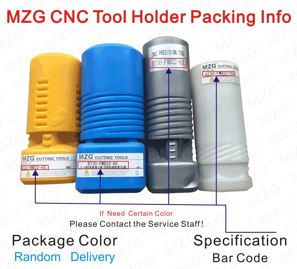 MZG CNC Tool Holder Packing Info