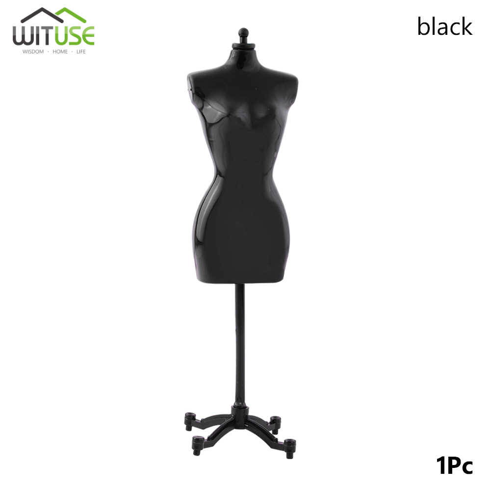 1 Pcs 22 Cm Display Gown Dress Kledingrek Pop Mannequin Holle Model Houder Stand Vrouwen Poppen Model Display Stand voor Poppen