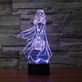 acrylic light Snow White 3D Lamp Night 7 Color Change Night Light LED Lighting  USB Table Touch Lamp For Kids Gift IY803501
