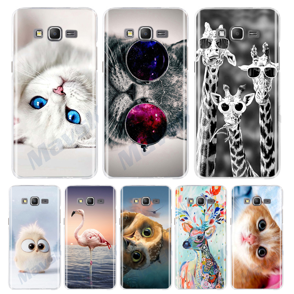 Phone Cove For Samsung Galaxy Grand Prime VE G530 SM-G530H G531H SM-G531H G531F SM-G531H/DS Duos Silicone Case TPU Cat Animal
