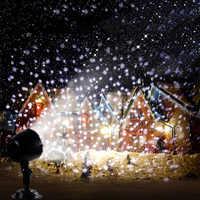 Macchina della neve impermeabile del laser Del Proiettore Di Natale 5 m lunghezza del cavo laser luci Di Natale illuminazione della fase effetto luce mostra IL