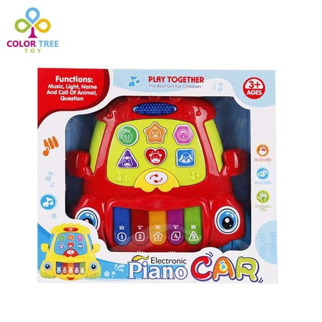 kids multifunction story machine electronic piano car baby learning machine with light music children early educational