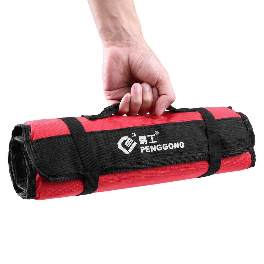 Waterproof Tool Bag Organizer Oxford Canvas Chisel Roll Rolling Pounch Wearable Repairing Handle Bag With Belt For Repair Tools